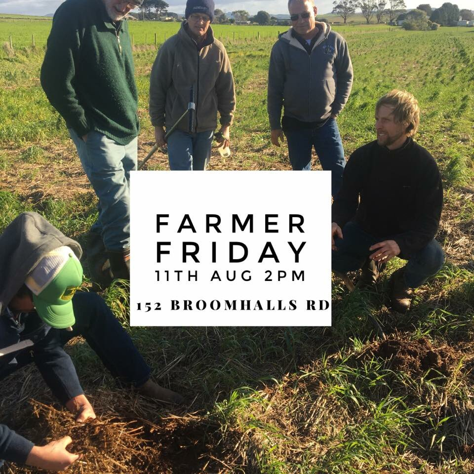 Join us farmers for an informal chat about soil...