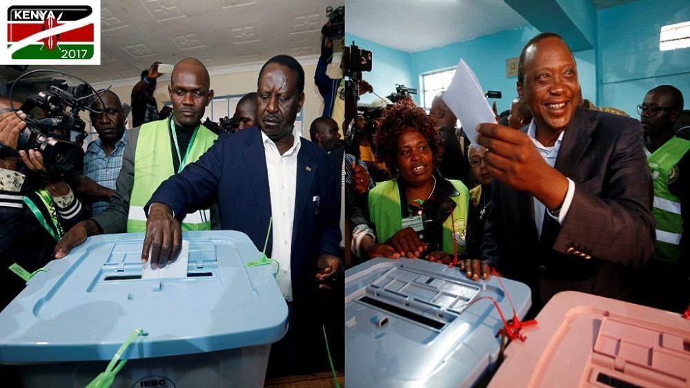 [LIVE] Kenya Votes: Main contenders Kenyatta, Odinga vote amid hitches