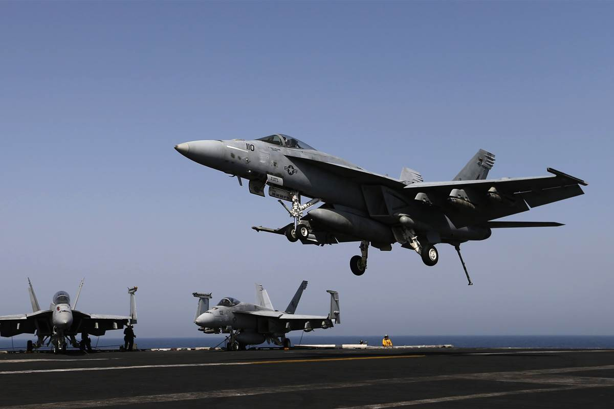 An Iranian drone came dangerously close to a U.S. Navy jet in the Persian