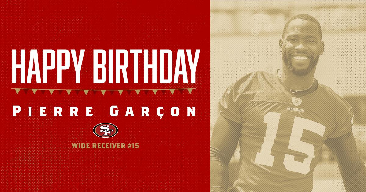 Help us wish a very happy birthday to @PierreGarcon! �� https://t.co/UNU4zPqVsj