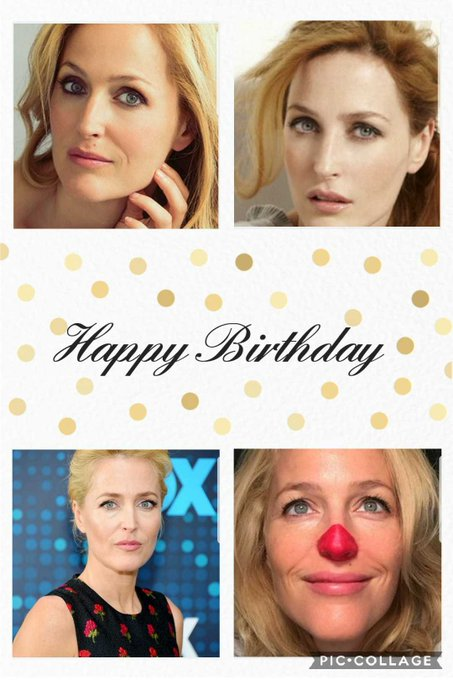 Happy birthday to you Gillian Anderson
