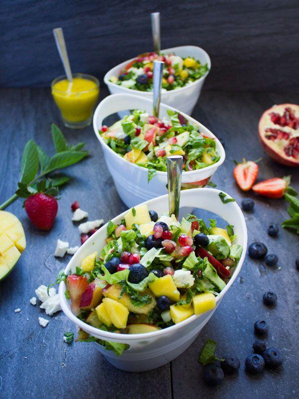 Fruity Greek Salad With Sweet Mango Salad Dressing  https://t.co/D0pszh3yJw via @twopurplefigs #salad #recipe https://t.co/CkAntgDb5x
