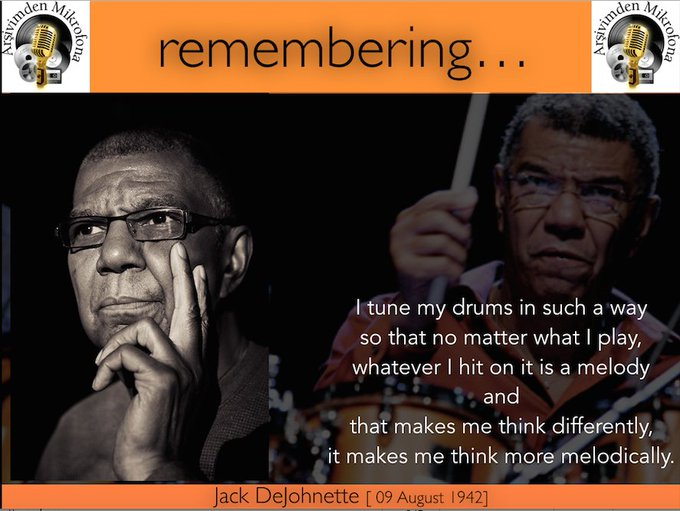 Happy birthday to Jack DeJohnette Born on this day in 1942.