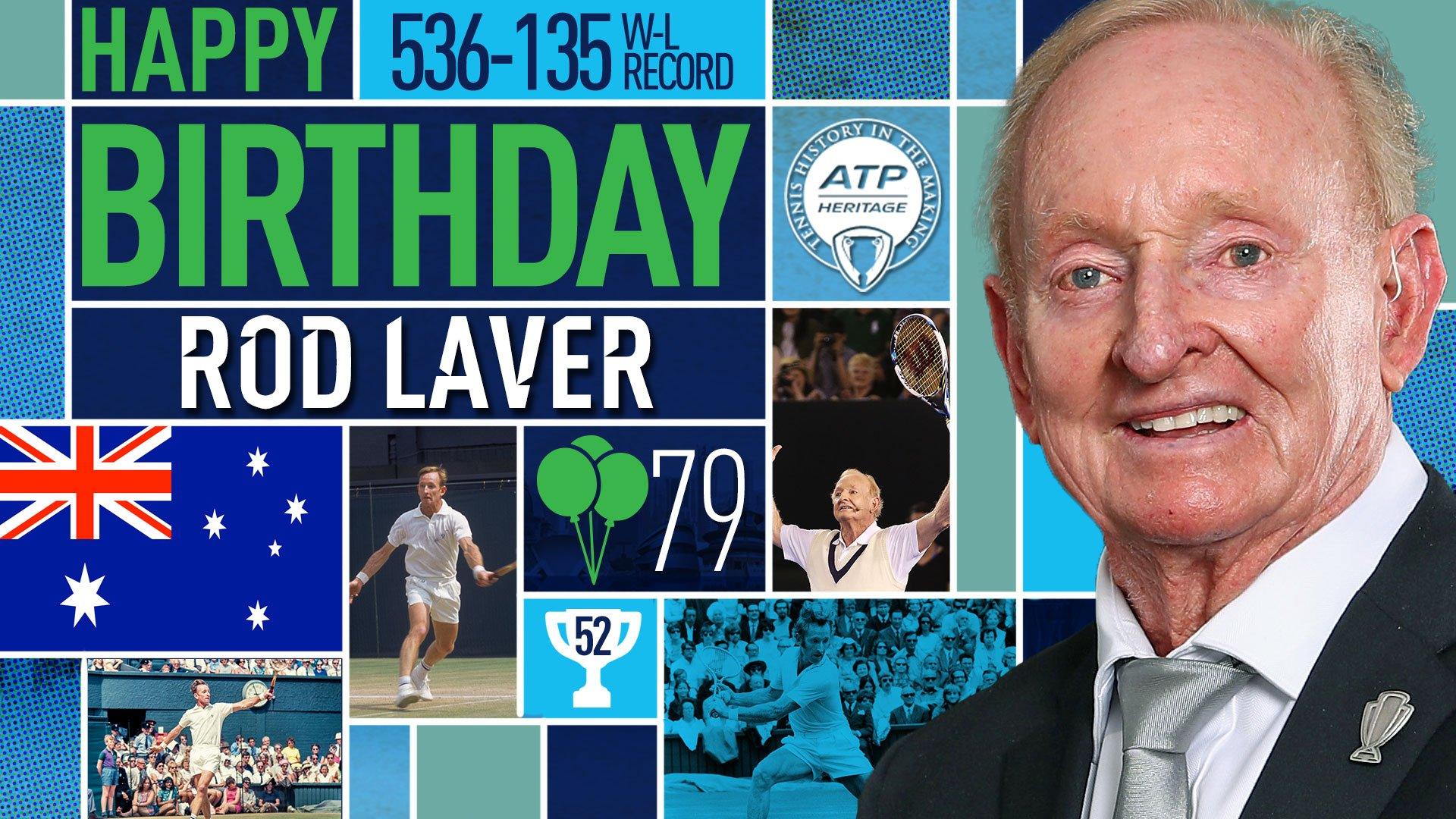 Wishing a very happy 79th birthday to Aussie tennis legend Rod Laver! �� View #ATP Profile: https://t.co/zUS5UWs8hx https://t.co/x3WxPzmLXp