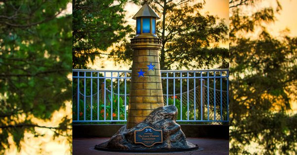 Disney World installed a memorial statue to honor Lane Graves one year after his death: