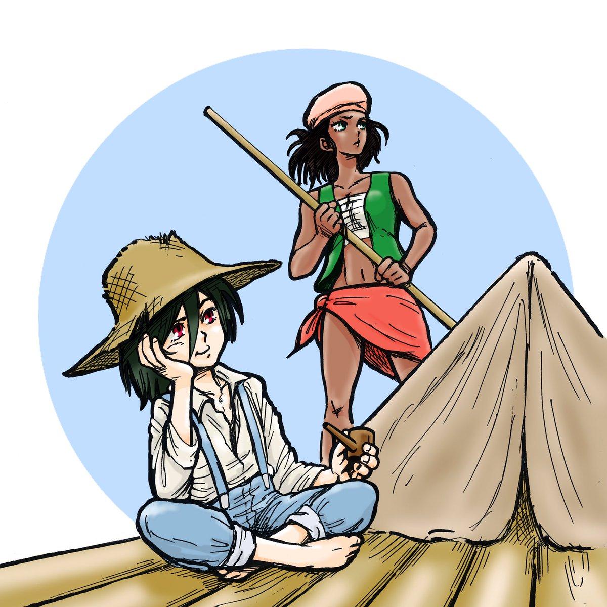8月9日はハック…でハックルベリーフィンの冒険ならぬ、ハックルベルリフィンの冒険を^_^相棒は奴隷ジムじゃなく褐色美人ス