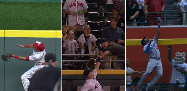 Which outfielder's catch was Tuesday's best? Let us know! https://t.co/EqiPr3BNza https://t.co/qz0nhYlSgD