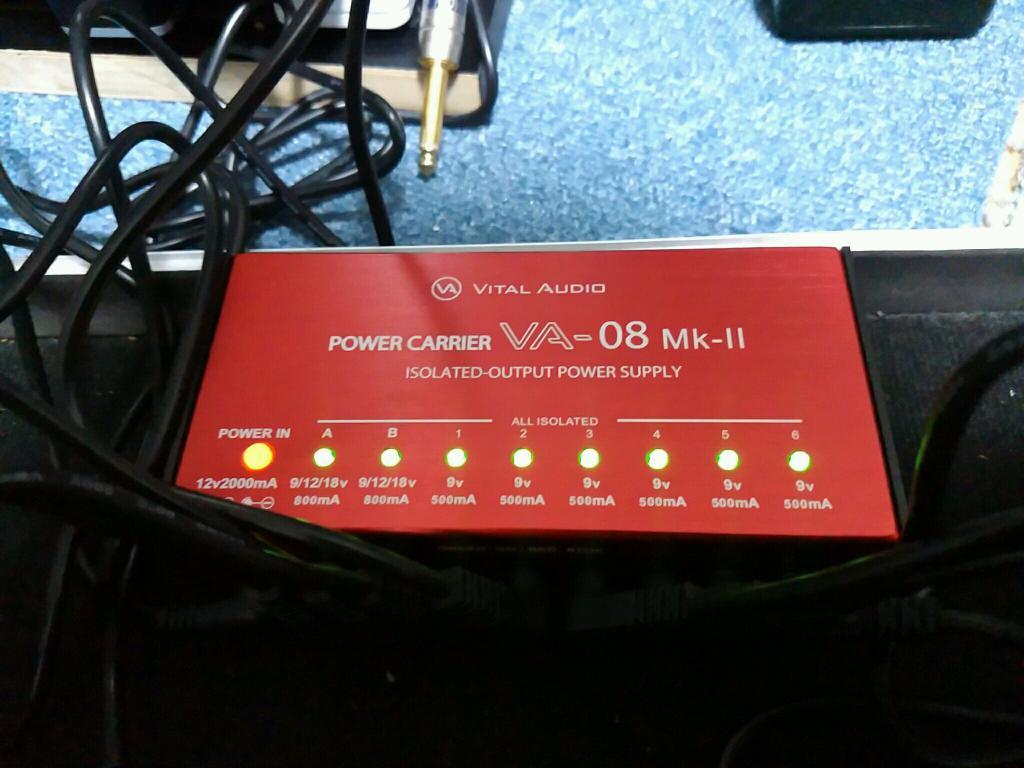My New Gear…… Vital Audio VA-08 Mk-2DCケーブルも丈夫っぽいし安心感すごいです。そし