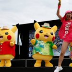 Pokemon Go fans join giant Pikachus at Yokohama festival