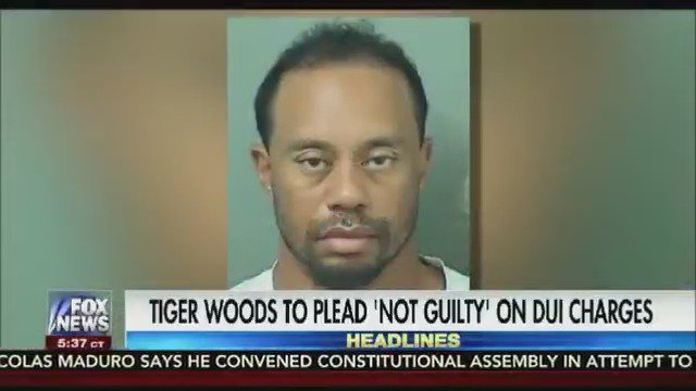 Tiger Woods to plead not guilty at arraignment today for DUI charge https://t.co/sqkKzHIBND