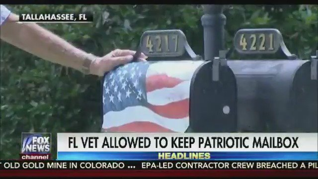 Florida Navy veteran wins fight with HOA to keep his American flag mailbox https://t.co/5KAHAAux3k