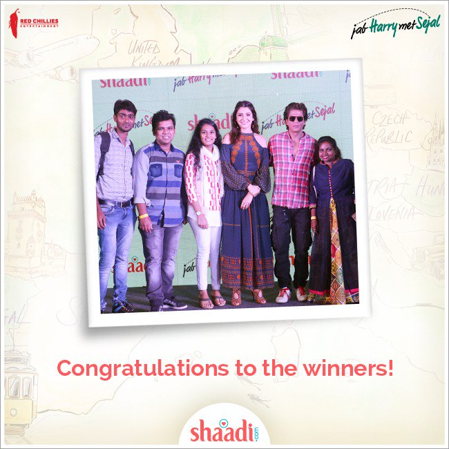 test Twitter Media - Here are our super-excited winners with @iamsrk and @AnushkaSharma Thanks @RedChilliesEnt. They had a great time! https://t.co/kxNf6Xwm6V