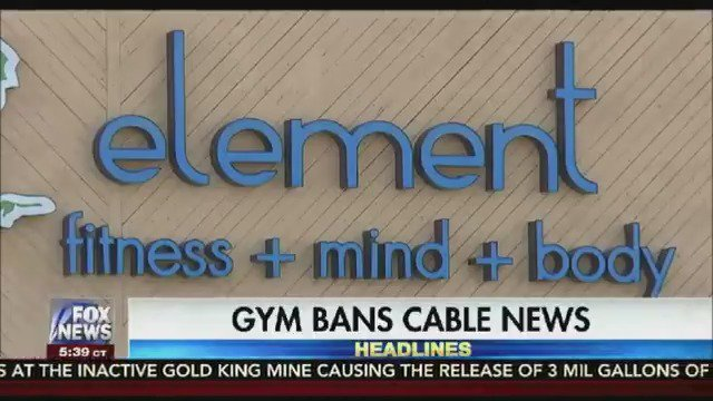 "Missouri gym bans all cable news from their TVs to ""cut down on drama"" https://t.co/uFRseQUP85"