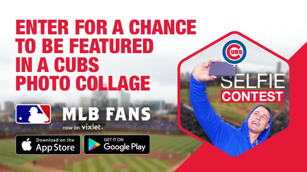 Selfie game strong? Prove it in the #Cubs selfie contest on the MLB Fans app: https://t.co/1YQXe8tnax https://t.co/FWeS0Qx75B