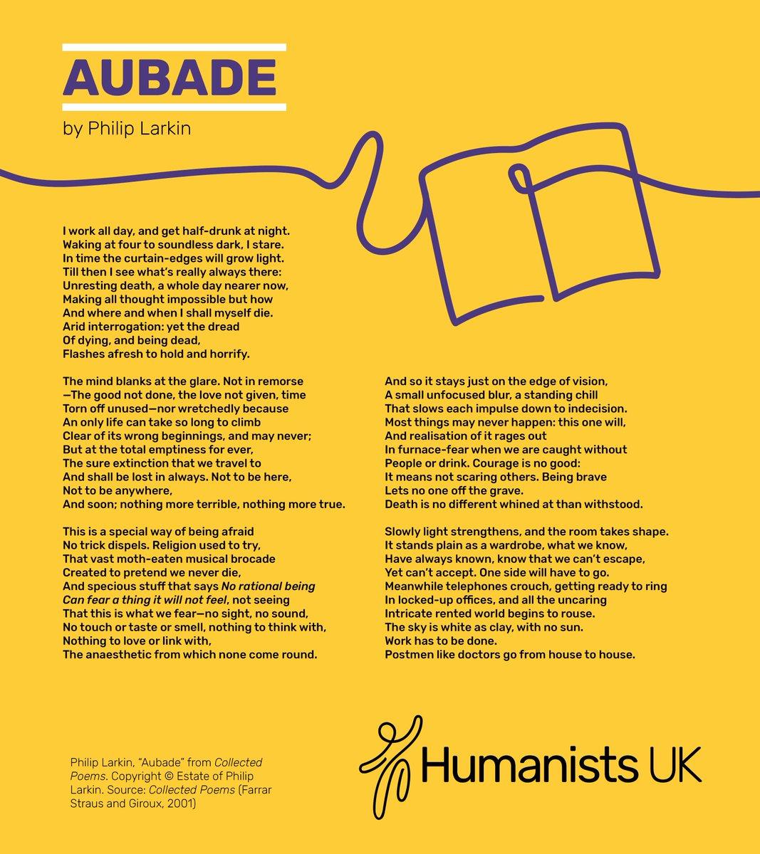 aubade philip larkin poetry response