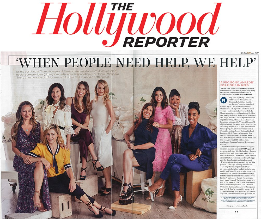 RT @baby2baby: So thrilled to be featured in @THR's Philanthropy issue!  Check it out on stands now! https://t.co/1hvVm1Pj8J