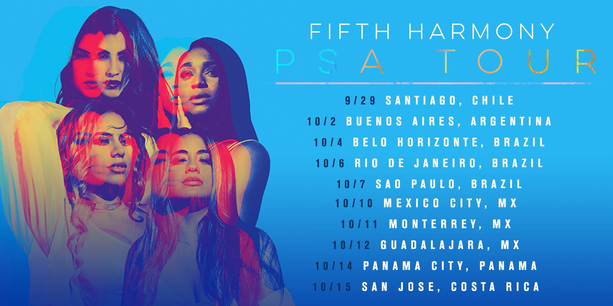 Latin America! Get ready for the #5HPSATour - SO EXCITED to see you babes��  Info: https://t.co/y31xipYAu4 https://t.co/fFiD2GMWBe