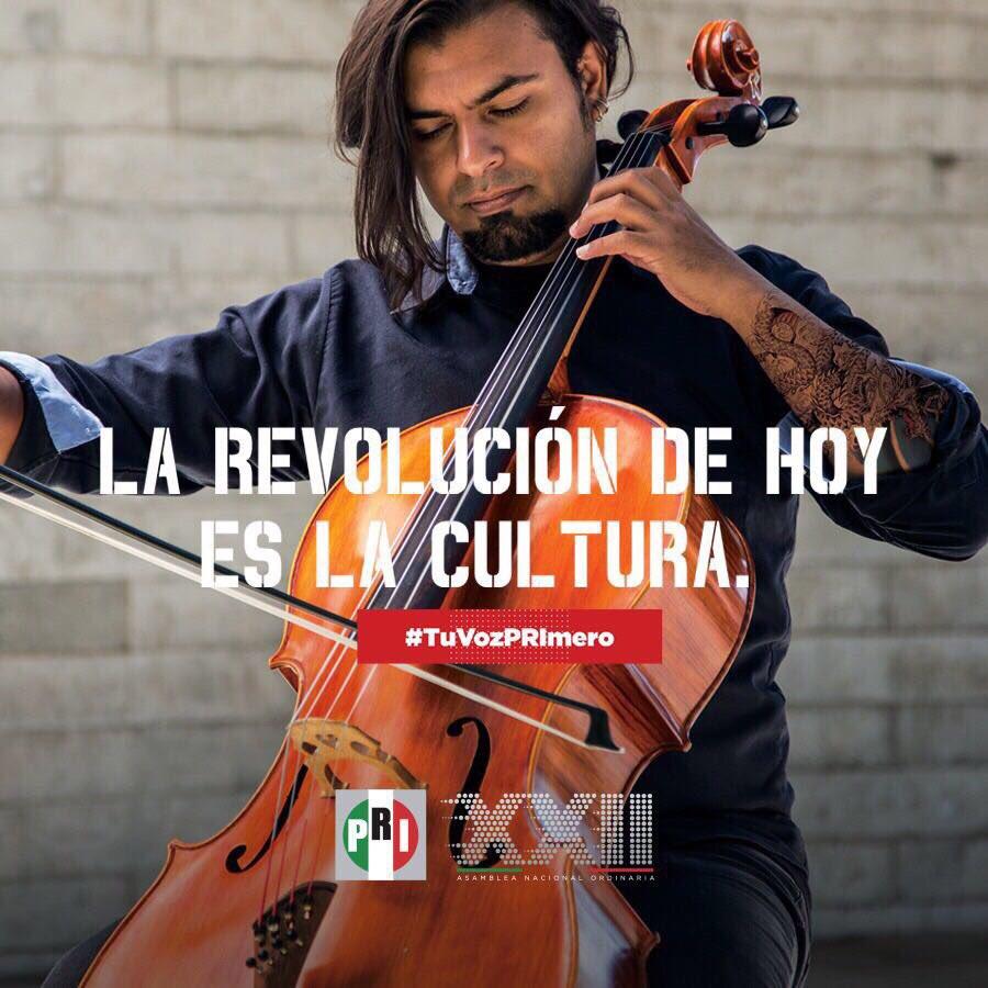 La revolución de hoy es una revolución cultural.   #TuVozPRImero en la #XXIIAsambleaPRI. https://t.co/omtvveVVIg