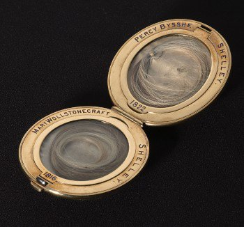 test Twitter Media - RT @Wordsworthians: Today's picture: a locket holding Mary and Percy Bysshe Shelley's hair #RomanticsPics https://t.co/DqDAY1sCzK