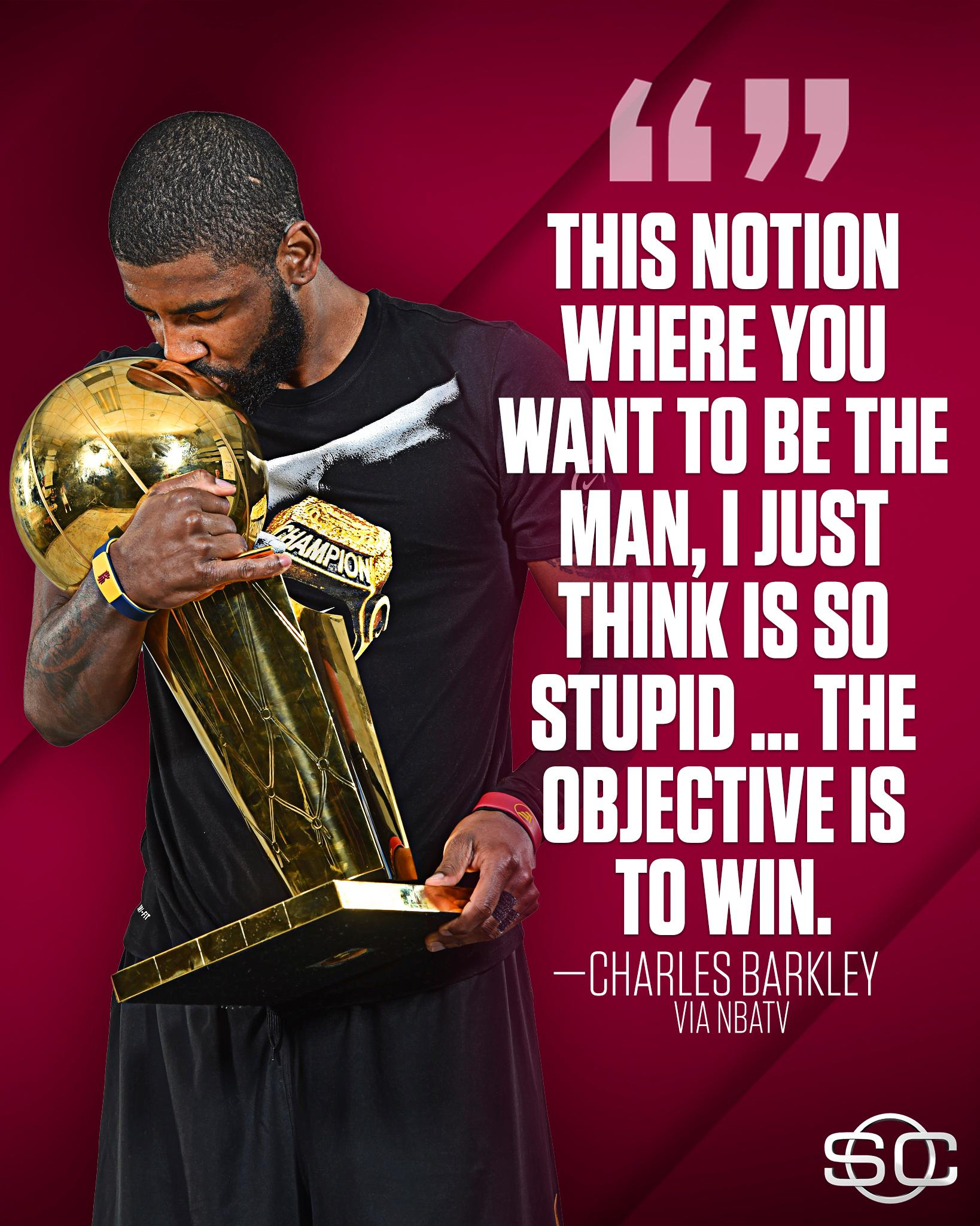 Charles Barkley simply doesn't understand Kyrie's request to leave Cleveland. https://t.co/kR7nC6owVM