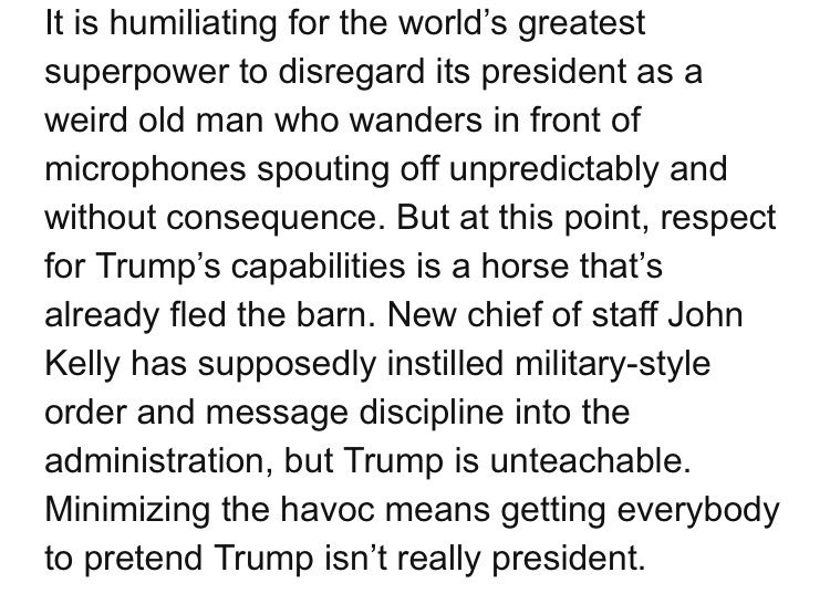 Here's @jonathanchait on US officials telling the world to ignore the president https://t.co/wf89IRpJxG https://t.co/pqERzlmqF4