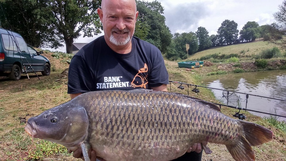 Lucky T doing its thing for Mark, first outing 44lb common 🐋💥 #hocuspocus #fishing #carpfishin