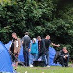 Inside homeless camp where residents battle drug abuse and mental health problems as row rages over unwanted 'shanty town'