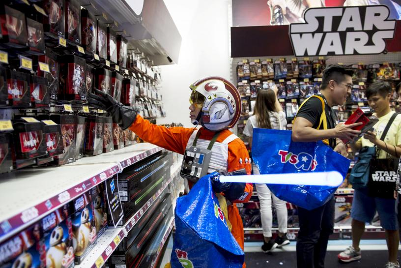 Disney taps augmented reality for 'Star Wars' toy event https://t.co/D0r01tPaVJ https://t.co/0l64NMyKGF