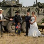 Forced off a family ranch by wildfire, couple marries at B.C. fire camp