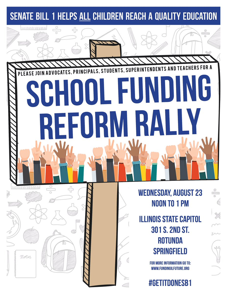 test Twitter Media - IL-House returns to Springfield tomorrow to override Gov's veto of SB1! Big School Funding Reform Rally tomorrow at Noon. #GetitDoneSB1 https://t.co/6N6XvkHvcB