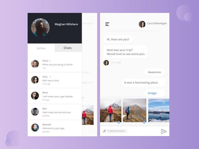 Chat concept   UI kit by allhailpanda freebie