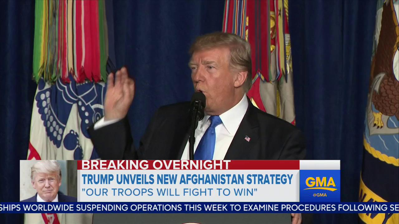 WATCH: Pres. Trump unveils new Afghanistan; 'My original instinct was to pull out.' https://t.co/pp6Lm2DtsG https://t.co/neOTsMqW97