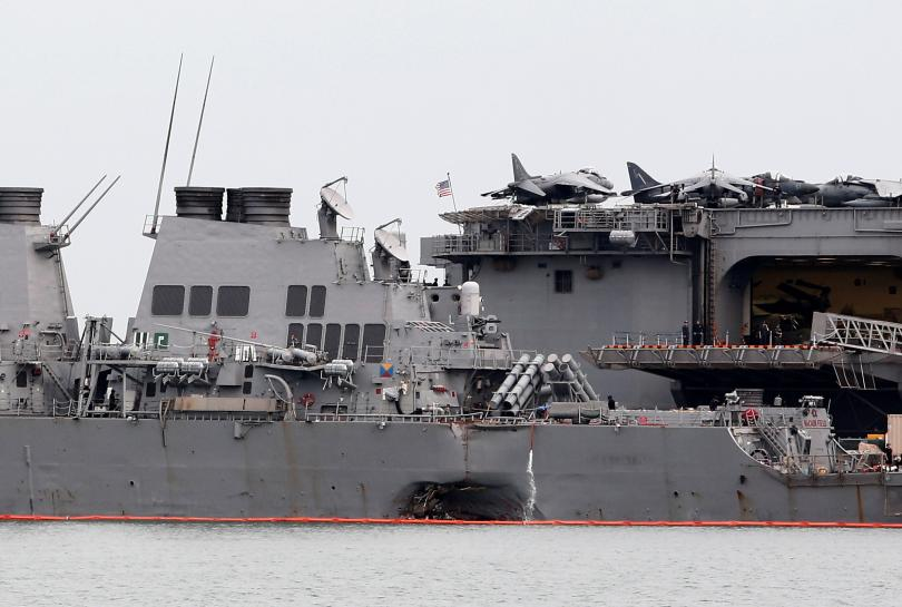U.S. divers search for 10 missing sailors in hull of damaged destroyer https://t.co/hefl324wju https://t.co/T0mQjrHTn6