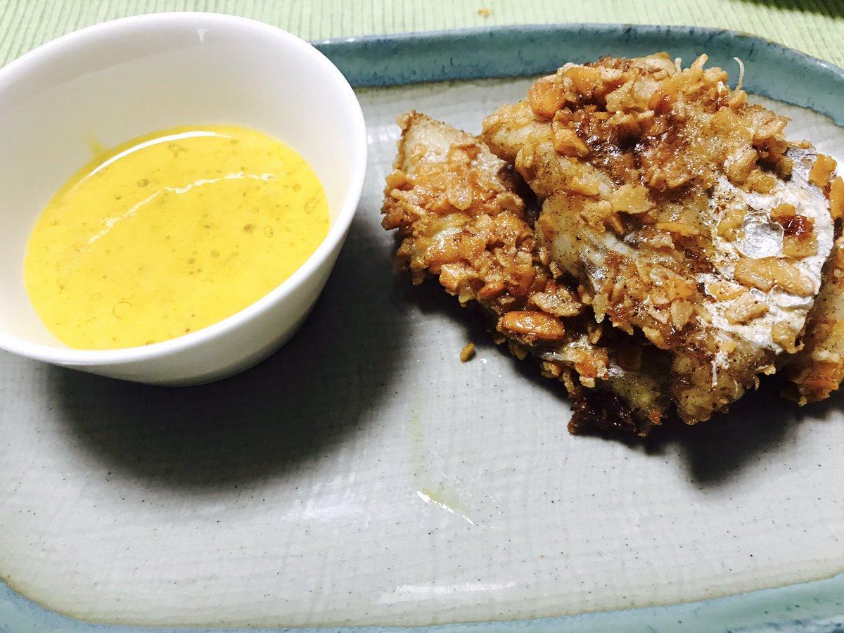 食戟のソーマより白身魚のお柿揚げを作った