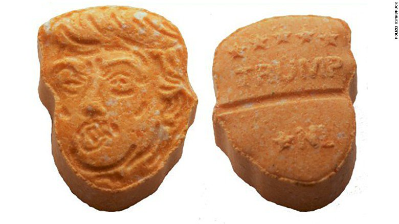 German police seize around 5,000 ecstasy tablets shaped like the head of President Trump https://t.co/0Jei73wAMo https://t.co/VK2KHeClKY