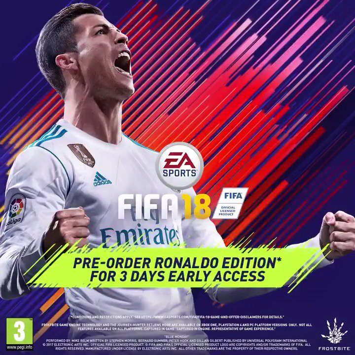 RT @ManCity: New season. The World's Game kicks off September 29. https://t.co/oI6pFXEZep @easportsfifa #FIFA18 #ad https://t.co/18b2vrN6er