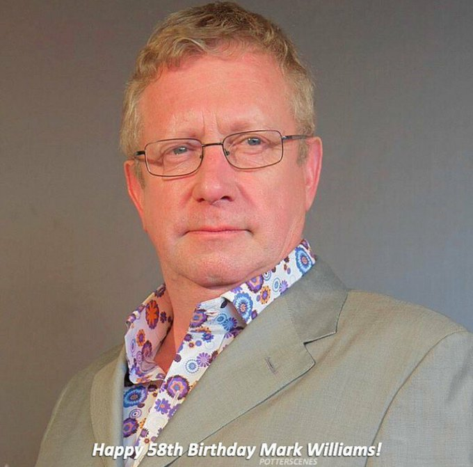 Happy 58th Birthday, Mark Williams! He played Arthur Weasley in Harry Potter films.