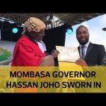 Mombasa governor Hassan Joho sworn in