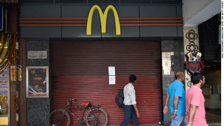 McDonald's cancels franchises for 169 restaurants in India