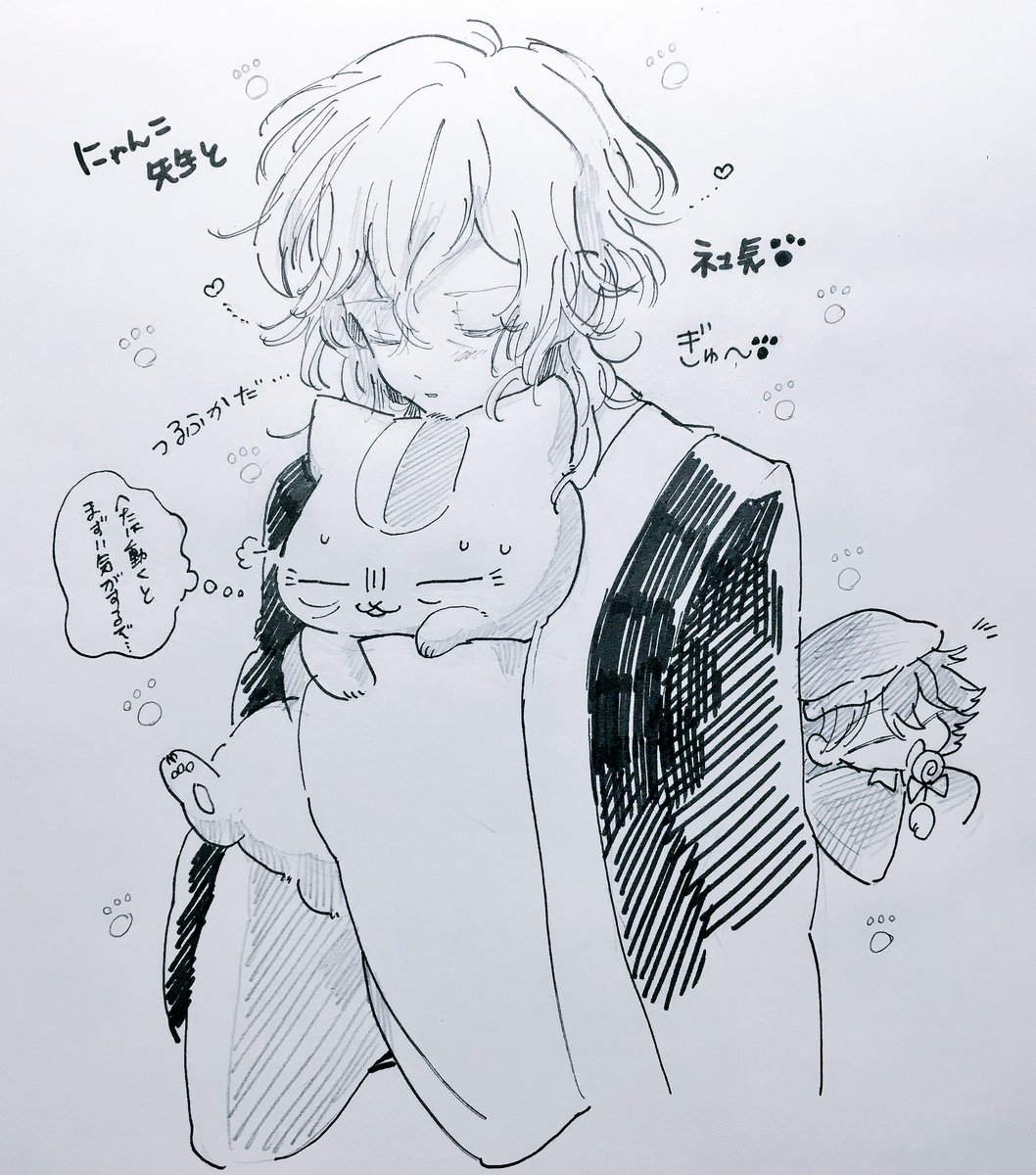 らんぽさん😕💭(社長がブサイクな猫抱いてる、、、) (夏目×文ストクロスオーバー)