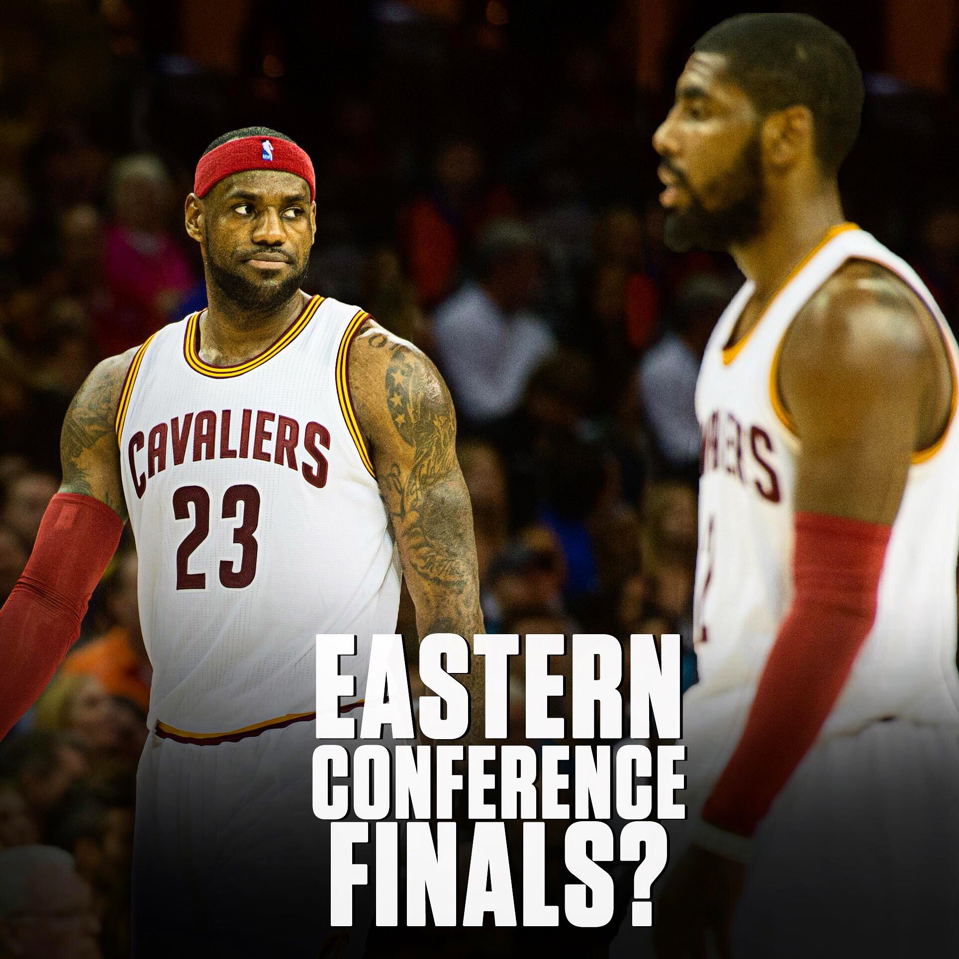 Eastern Conference finals this year could feature LeBron VERSUS Kyrie. https://t.co/bvluy9qS7g