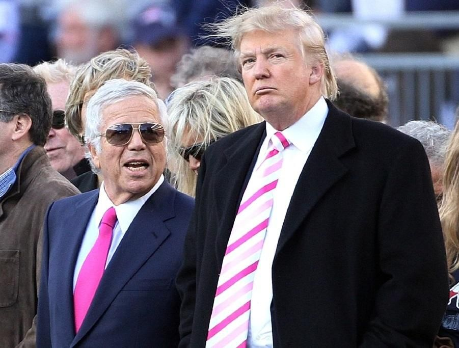President gets Super Bowl ring from Patriots owner Kraft