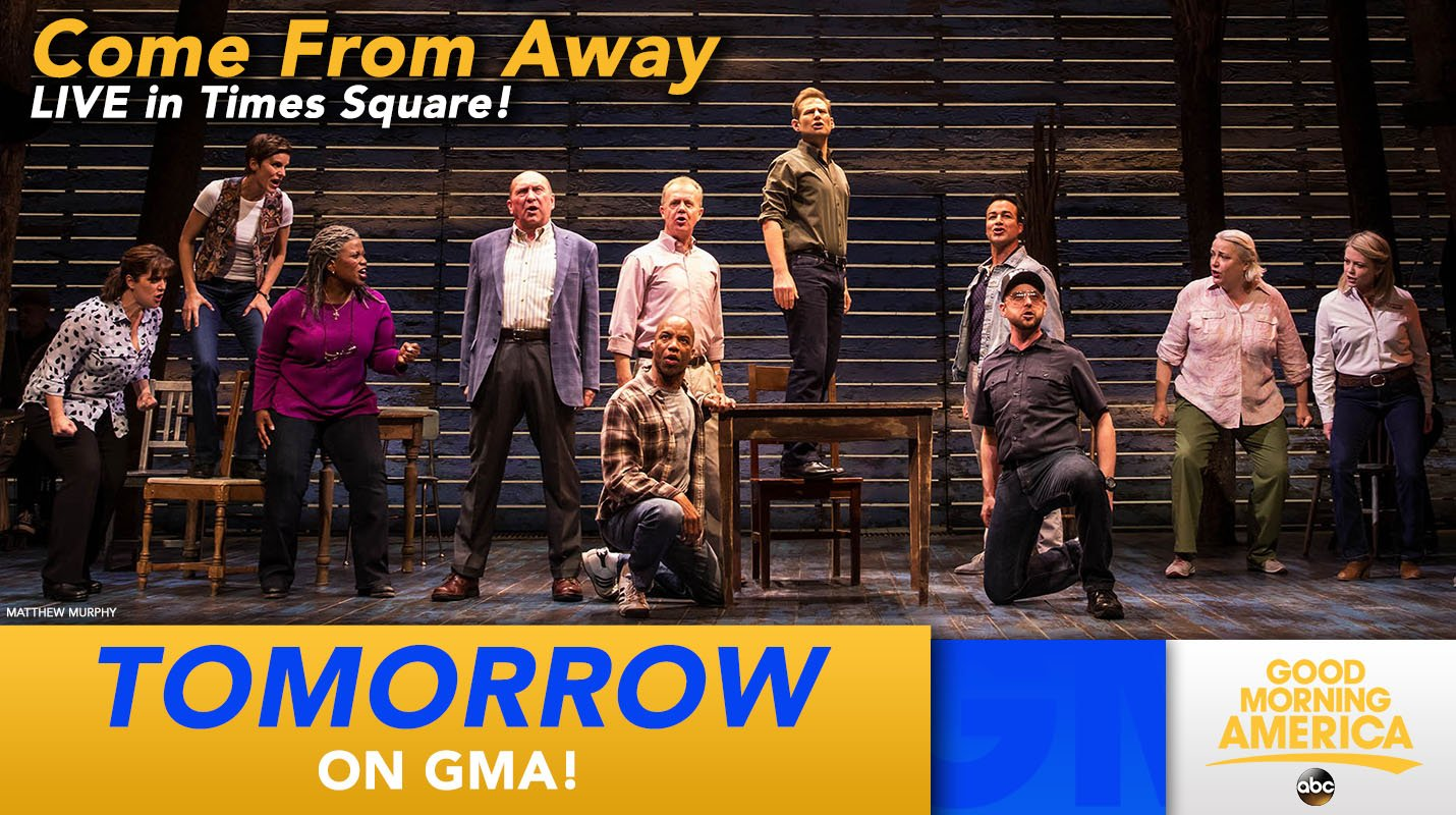 TOMORROW: Tag a friend! The Tony-winning cast of @wecomefromaway performs LIVE in Times Square! https://t.co/LQ3ccsGXFC