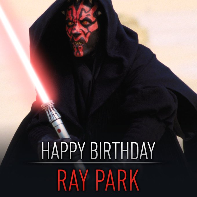 De man achter de angstaanjagende Darth Maul is vandaag jarig. Happy birthday Ray Park!