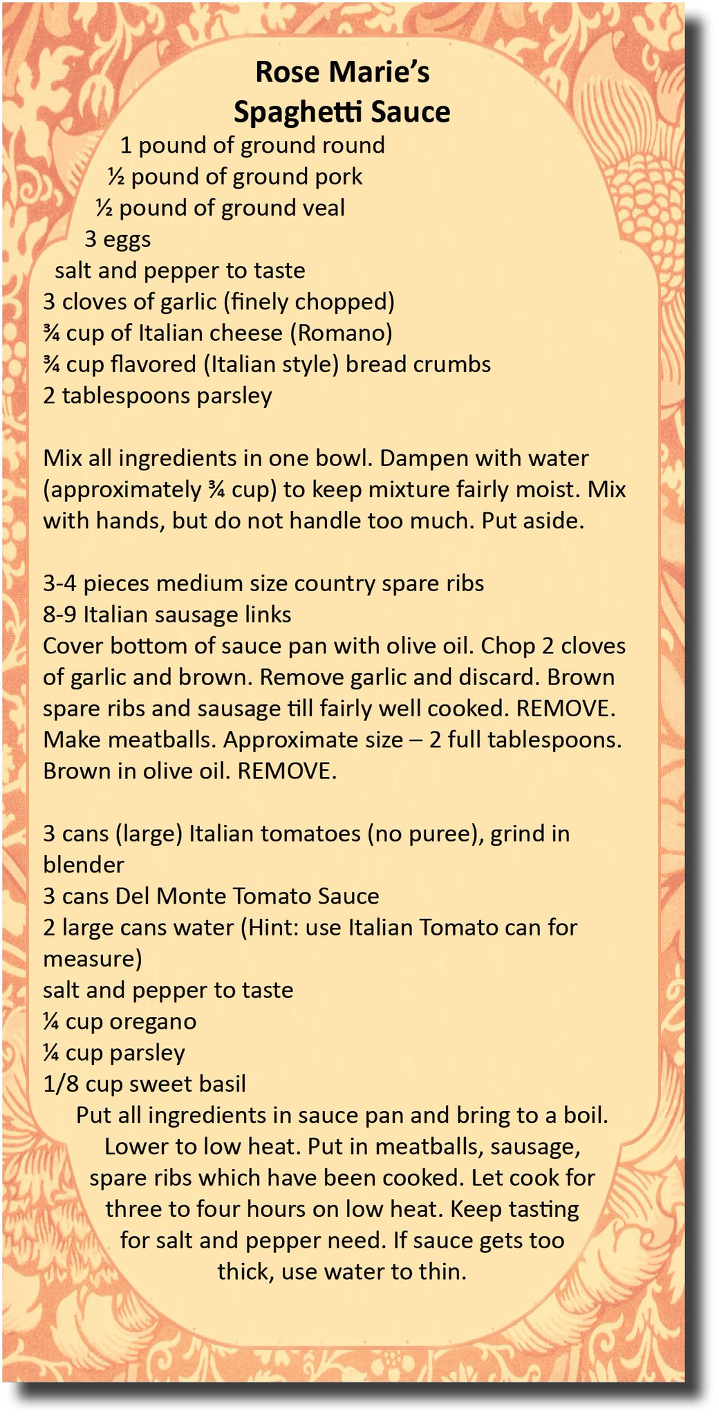 Because you kids asked so nicely, here's my spaghetti sauce recipe & yes I do still make it. https://t.co/SpiThjrSoV