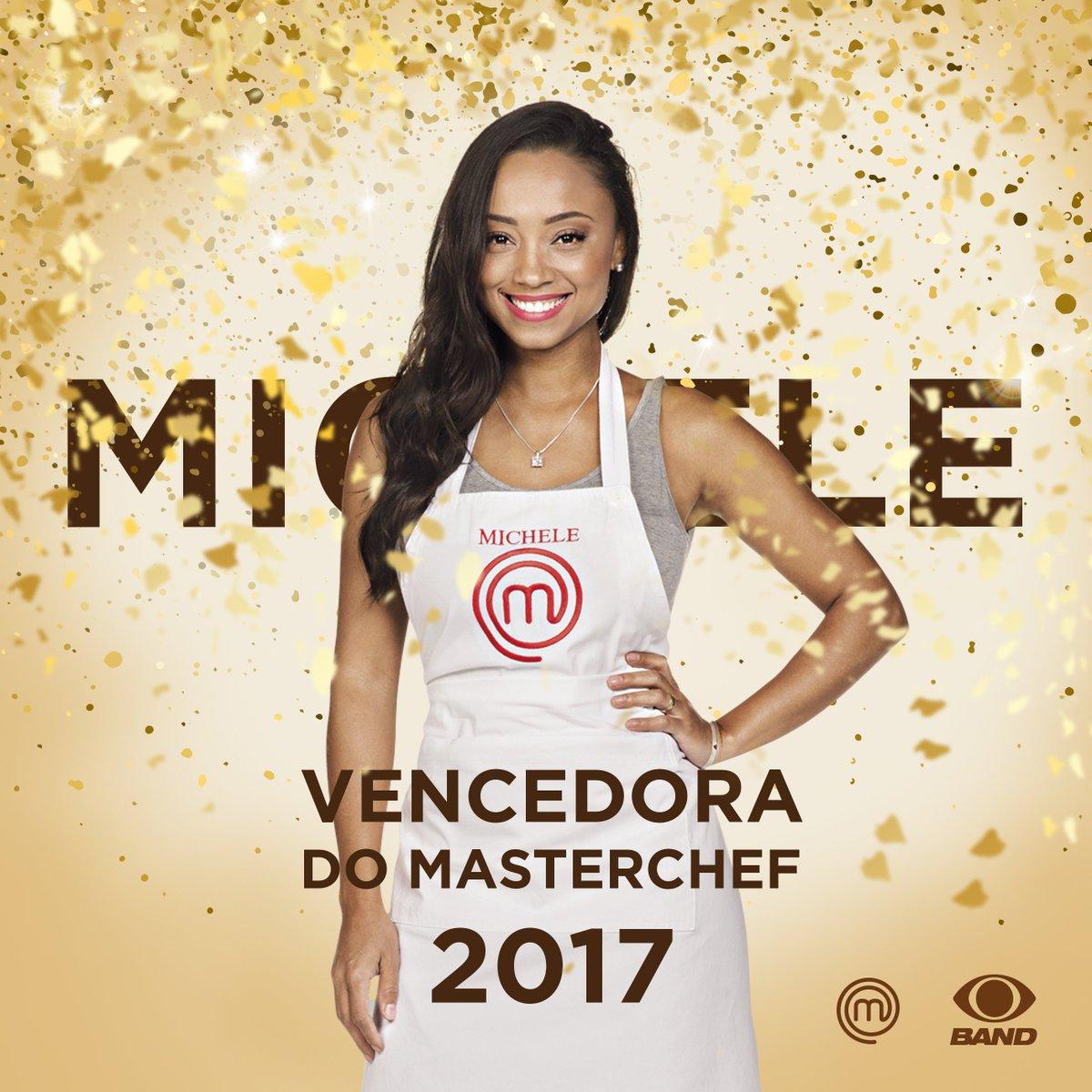 RT @masterchefbr: É com muito orgulho que anunciamos que a @MChefMichele é a nova #MasterChefBR! Parabéns! https://t.co/nUL3aLXQmO