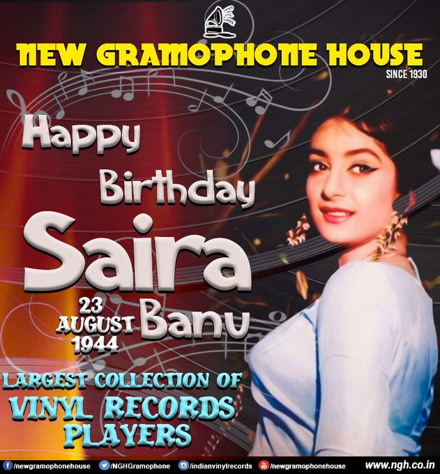 HAPPY BIRTHDAY SAIRA BANU JI See All Saira Banu\s Vinyl Records Link -
