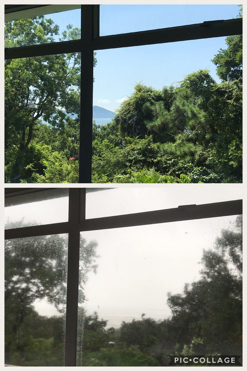 What a difference a day makes! #Hato T10 #MotherNature https://t.co/mxaGveXLPY