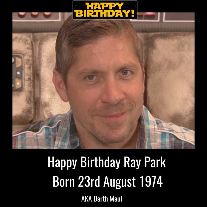 Happy Birthday Ray Park aka Darth Maul. Born 23rd August 1974.