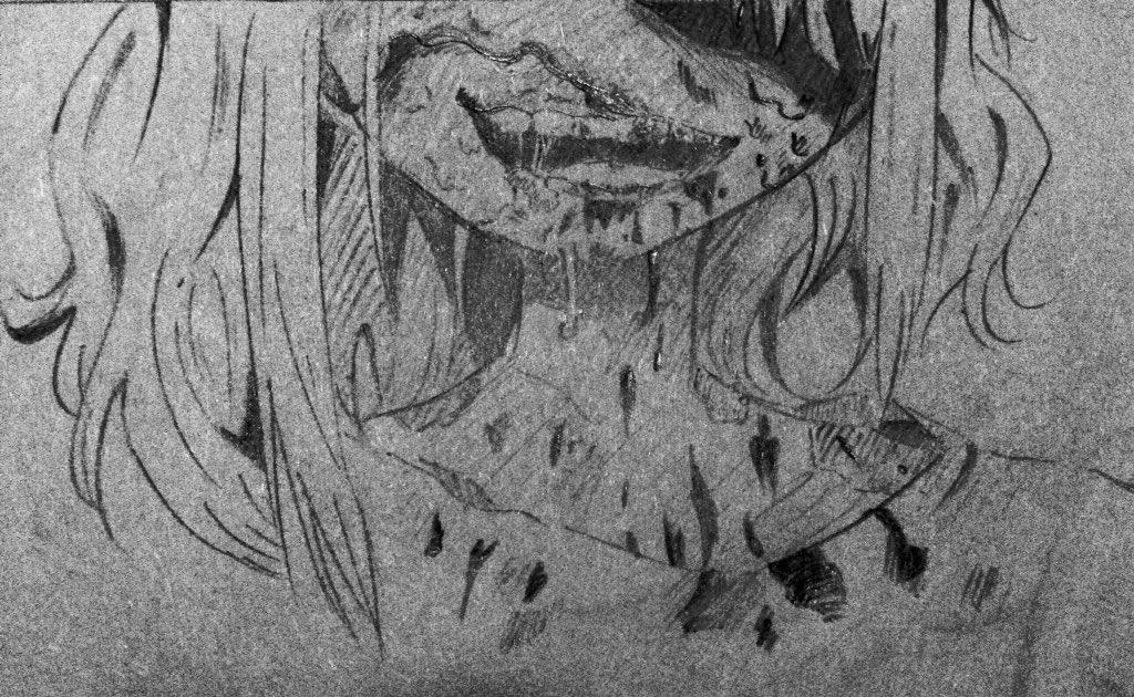 佐倉先生のゾンビVer.(修正版)描いてみた#がっこうぐらし